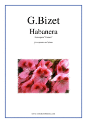 Cover icon of Habanera, from Carmen sheet music for soprano and piano by Georges Bizet, classical score, intermediate skill level