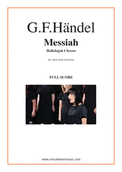 Cover icon of Hallelujah Chorus from Messiah (f.score) sheet music for choir and orchestra by George Frideric Handel, classical score, intermediate/advanced skill level