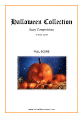 Cover icon of Halloween Sheet Music (f.score) for brass quartet, classical score, intermediate/advanced skill level