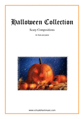Halloween Collection for flute and piano - intermediate halloween sheet music