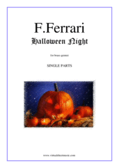 Cover icon of Halloween Night (parts) sheet music for brass quintet by Fabrizio Ferrari, intermediate skill level