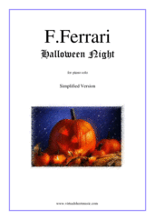 Cover icon of Halloween Night (simplified) sheet music for piano solo by Fabrizio Ferrari, intermediate skill level