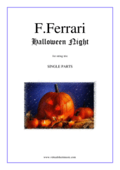 Cover icon of Halloween Night (parts) sheet music for string trio by Fabrizio Ferrari, intermediate skill level