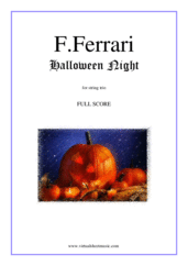 Cover icon of Halloween Night (f.score) sheet music for string trio by Fabrizio Ferrari, intermediate skill level