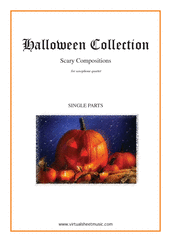 Cover icon of Halloween Sheet Music (parts) for saxophone quartet, classical score, intermediate/advanced skill level