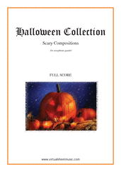 Cover icon of Halloween Sheet Music (COMPLETE) for saxophone quartet, classical score, intermediate/advanced skill level