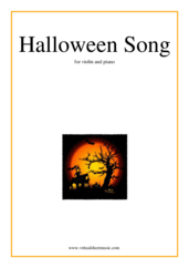Cover icon of Halloween Song sheet music for violin and piano, easy skill level