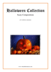 Cover icon of Halloween Sheet Music for trombone and piano, classical score, intermediate/advanced skill level