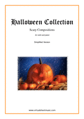 Cover icon of Halloween Sheet Music (simplified version) for violin and piano, classical score, easy skill level