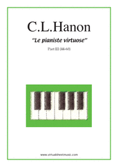 Cover icon of Le Pianiste Virtuose, part III sheet music for piano solo by Charles Louis Hanon, classical score, easy/intermediate skill level