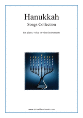 Cover icon of Hanukkah Songs Collection (Chanukah songs) sheet music for piano, voice or other instruments, easy skill level