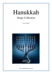 Cover icon of Hanukkah Songs Collection (Chanukah songs) sheet music for two flutes, easy duet