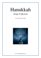 Cover icon of Hanukkah Songs Collection (Chanukah songs) sheet music for alto saxophone and piano, classical score, easy skill level