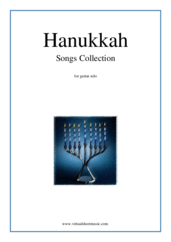 Hanukkah Songs Collection (Chanukah songs) for guitar solo - christmas guitar sheet music