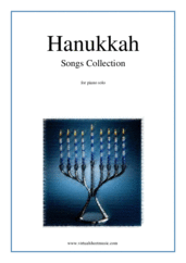 Hanukkah Songs Collection (Chanukah songs) for piano solo - christmas hanukkah sheet music