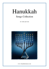 Cover icon of Hanukkah Songs Collection (Chanukah songs) sheet music for violin and viola, classical score, easy duet