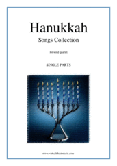 Hanukkah Songs Collection (Chanukah songs, COMPLETE) for wind quartet - sacred wind quartet sheet music