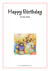 Cover icon of Happy Birthday sheet music for two violas, classical score, easy duet