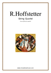 Cover icon of String Quartet (for quintet, ALL) sheet music for string quintet by Roman Hoffstetter, classical score, intermediate skill level