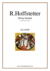 Cover icon of String Quartet (for quintet, f.score) sheet music for string quintet by Roman Hoffstetter, classical score, intermediate skill level