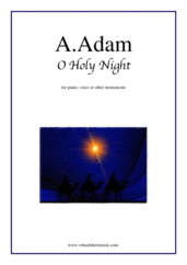 Cover icon of O Holy Night sheet music for piano, voice or other instruments by Adolphe Adam, easy skill level
