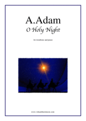 free O Holy Night for trombone and piano - christmas trombone sheet music