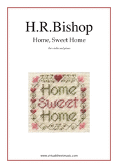 Cover icon of Home, Sweet Home sheet music for violin and piano by Henry Rowley Bishop, easy skill level