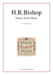 Cover icon of Home, Sweet Home sheet music for viola and piano by Henry Rowley Bishop, easy skill level