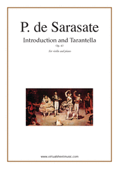 Cover icon of Introduction and Tarantella Op.43 sheet music for violin and piano by Pablo De Sarasate, classical score, advanced skill level