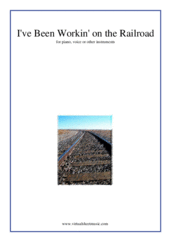 Cover icon of I've Been Workin' on the Railroad sheet music for piano, voice or other instruments, easy skill level