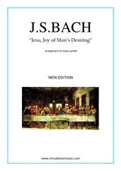 Jesu, Joy of Man's Desiring (New Edition) for brass quintet - christmas brass quintet sheet music