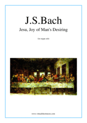 Jesu, Joy of Man's Desiring for organ solo - easy organ sheet music