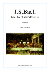Jesu, Joy of Man's Desiring for piano solo - johann sebastian bach wedding sheet music