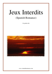 Cover icon of Jeux Interdits (Spanish Romance) sheet music for guitar solo by Anonymous, classical score, easy/intermediate skill level
