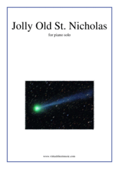 Cover icon of Jolly Old St. Nicholas sheet music for piano solo, beginner skill level