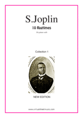 Cover icon of Ragtimes (collection 1 - NEW EDITION) sheet music for piano solo by Scott Joplin, classical score, intermediate skill level