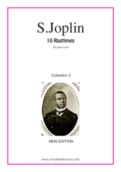 Cover icon of Ragtimes (collection 3 - NEW EDITION) sheet music for piano solo by Scott Joplin, classical score, intermediate skill level