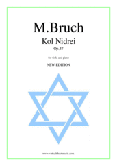 Kol Nidrei Op.47 (NEW EDITION) for viola and piano - viola and piano sheet music