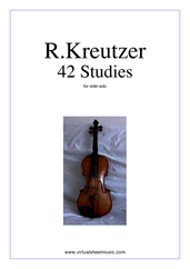 Cover icon of Studies (1-42) - COMPLETE sheet music for violin solo by Rudolf Kreutzer, classical score, intermediate skill level