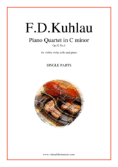 Cover icon of Piano Quartet Op.32 No.1 (parts) sheet music for piano quintet by Friedrich Daniel Rudolf Kuhlau, classical score, advanced skill level