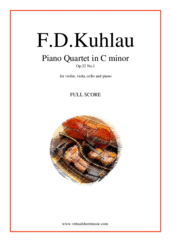 Cover icon of Piano Quartet Op.32 No.1 (f.score) sheet music for piano quintet by Friedrich Daniel Rudolf Kuhlau, classical score, advanced skill level