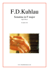 Cover icon of Sonatina in F major Op.55 No.4 sheet music for piano solo by Friedrich Daniel Rudolf Kuhlau, classical score, easy/intermediate skill level
