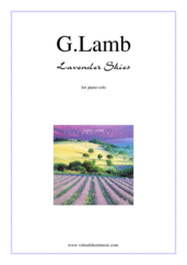 Cover icon of Lavender Skies sheet music for piano solo by Gary Lamb, intermediate skill level