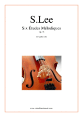 Cover icon of Six Etudes Melodiques Op. 76 sheet music for cello solo by Sebastian Lee, classical score, intermediate/advanced skill level