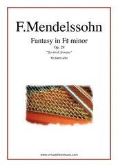 "Cover icon of Fantasy Op.28 ""Scottish Sonata"" sheet music for piano solo by Felix Mendelssohn-Bartholdy, classical score, intermediate/advanced skill level"