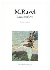 Cover icon of Ma Mere l'Oye sheet music for piano four hands by Maurice Ravel, classical score, advanced skill level