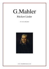 Ruckert Lieder for voice and piano - intermediate gustav mahler sheet music