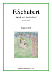 Cover icon of Death and the Maiden (f.score) sheet music for string quartet by Franz Schubert, classical score, advanced skill level