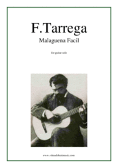 Cover icon of Malaguena Facil sheet music for guitar solo by Francisco Tarrega, classical score, intermediate skill level