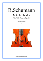 Cover icon of Marchenbilder (Fairy Tale Pictures), Piece No. 2 sheet music for viola and piano by Robert Schumann, classical score, intermediate skill level